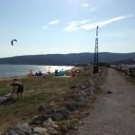 Blick auf Talamone Kitespot