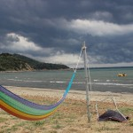 Talamone Rettungsboot Wolken
